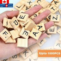 Wooden Alphabet Scrabble Tiles Letters Child Spelling Crossword Upto 1000 pcs