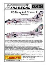 Xtra Decals 1/72 U.S. NAVY L.T.V. A-7 CORSAIR II Attack Plane Part 1