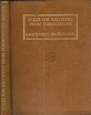 1923 RECOVERY FROM TUBERCULOSIS MEDICINE DR. LAWRASON BROWN M.D.