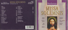 CD  - BEETHOVEN - MISSA SOLEMNIS IN D MAJOR OP. 123 - MUSICA DI ANGELI -
