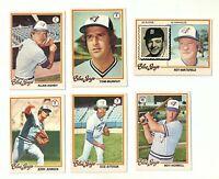 LOT OF 6 TORONTO BLUE JAYS BASEBALL CARDS - JERRY JOHNSON 1978