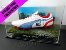 ✺Signed✺ WALLY LEWIS Football Boot COA Brisbane Broncos NRL 2017 Jersey