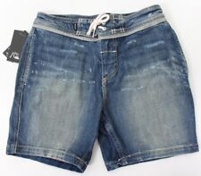 Quicksilver Boys Street Trunk Denim Short Jeans Distressed Blue 28/14 NWT