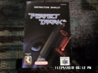 Perfect Dark (Nintendo 64) Instruction Manual Booklet Only... NO GAME