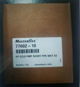 *Factory Sealed*MasterFlex I/P 77602-10 easy-load pump head.PSF housing/ss rotor