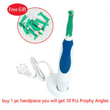 Dental Portable Hygiene Handpiece Cordless Rechargeable Blue Amp 10 Prophy Angles