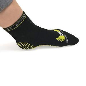 Trampoline grip socks, yoga fitness non slip slipper sock pack of 2 pairs