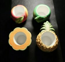 PARTYLITE FRUIT SPLASH  FOUR CANDLE HOLDERS!   DD497DNN