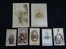 LOT 7 CDV PHOTOS ZOUAVES MILITAIRES MARECHAL 109 - 30 - 32 EME REGIMENT (B841)