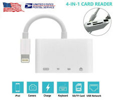 4in1 Lightning to USB Camera SD TF Card Reader Adapter For iPhone iPod iPad IOS