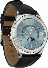 Samsung Galaxy Gear S2 Classic 40mm Platinum Plated Case Black Band New