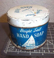 vintage Bright sail Hand Soap 16 oz Tin, great colors & graphics, mostly full