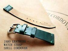 Shell Cordovan watch strap 20 mm wide, dark green  color