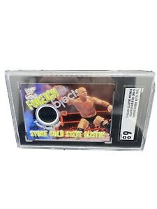 2001 Fleer Wrestling Foreign Objects Stone Cold Steve Austin Event Used SGC 6