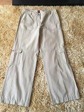 Ladies Cargo Trousers Olsen Tina Beige Brown  Size 12 Pockets
