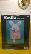 "Bucilla Plastic Canvas ""Pocket of Bunnies"" Holder 9"" High ~ By Genevieve Neglia"