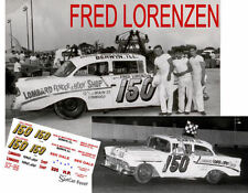 CD_956 #150 Fred Lorenzen 1956 Lombard Fender & Body Chevy  1:64 scale decals