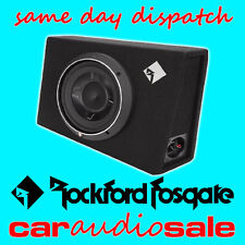 "ROCKFORD FOSGATE P3S-1X10 600W 10"" SLIM SHALLOW LOADED ENCLOSURE SUBWOOFER BOX"