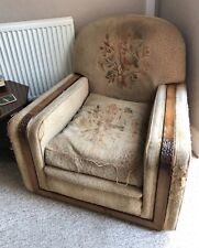art deco vintage 30s original antique armchair
