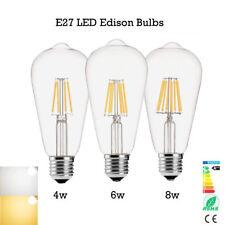 vintage ST64 E27 4W/6W/8W LED filamento Vela Pequeña Globo Bombilla Xmas Light