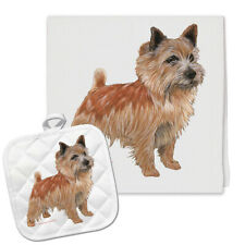 Norwich Terrier Kitchen Dish Towel and Pot Holder Gift Set