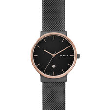 Skagen Ancher Black Dial Mesh Mens Watch SKW6296