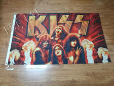 KISS BAND FLAG 3x5FT 90x150CM TWO GROMMETS