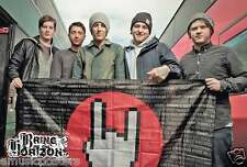 "BRING ME THE HORIZON ""GROUP HOLDING FLAG"" POSTER FROM ASIA - Metalcore Music"