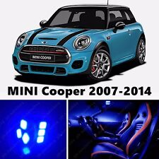 12pcs LED  Blue Light Interior Package Kit for MINI Cooper 2007-2014