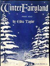 rare WINTER FAIRYLAND - EDNA TAYLOR – PIANO SOLO SHEET MUSIC