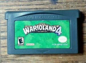Wario Land 4 (Nintendo Game Boy Advance, 2001) VG Shape & Tested Authentic