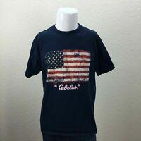Mens Cabelas 2014 USA Flag Blue Large T-Shirt
