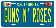 Guns N' Roses 1985 California Metal License plate