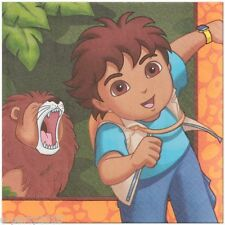 GO DIEGO GO Biggest Rescue LARGE NAPKINS (16) ~ Birthday Party Supplies Lunch