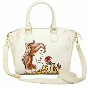 Loungefly Disney Beauty And The Beast Satchel Belle Rose Purse Floral Bag