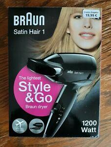 Braun Satin Hair 1 - Hair Dryer HD130 - 1200 Watt - Farbe Schwarz