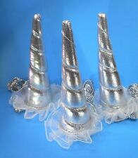 Silver Unicorn Horn Headband - Dress Up Cosplay Costume Party Concert Book Week