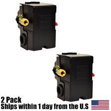 (2) Pressure Switch Control Air Compressor 4 Port 26 Amp 90-125 PSI Heavy Duty