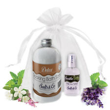 DETOX & SOOTHE – AROMATHERAPY BATH SALTS & PILLOW SPRAY GIFT SET