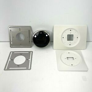 Nest 01A 1st Generation Learning Programmable Thermostat -Silver-Mounting Plates