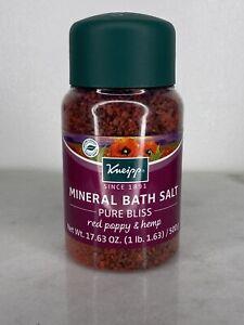 Kneipp Mineral Bath Salt - Pure Bliss - Red Poppy & Hemp - Vegan 17.63 oz