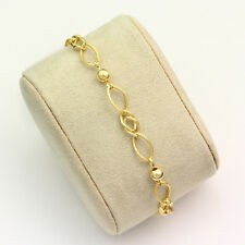 18k Yellow Gold Ball and Link Bracelet