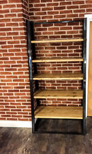Steel Ladder Handmade Reclaimed Wood with Box Steel Support Shelving.