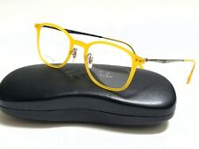 Authentic RAY-BAN LightRay RX7051 5519 Opal Matte Yellow 47/20/140 Rx Eyeglasses