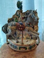 IOB Limited Edition Willitts Musical Carousel Memories By Ann Dezendorf W/ AU