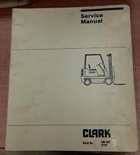 Clark Service & Adjustment Manual for SM547, G127