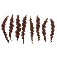 8 bandes de perruque pure cheveux frisés Mohair pour Reborn poupée bébé