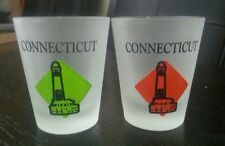 2- Frosted Connecticut Shot Glasses