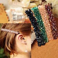 Women Bling Rhinestone Crystal Hair Clip Barrette Hairpin Fashion Headwear Charm