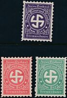 Stamp Germany Revenue WWII Fascism's Era Faith Set Exceptional MNH